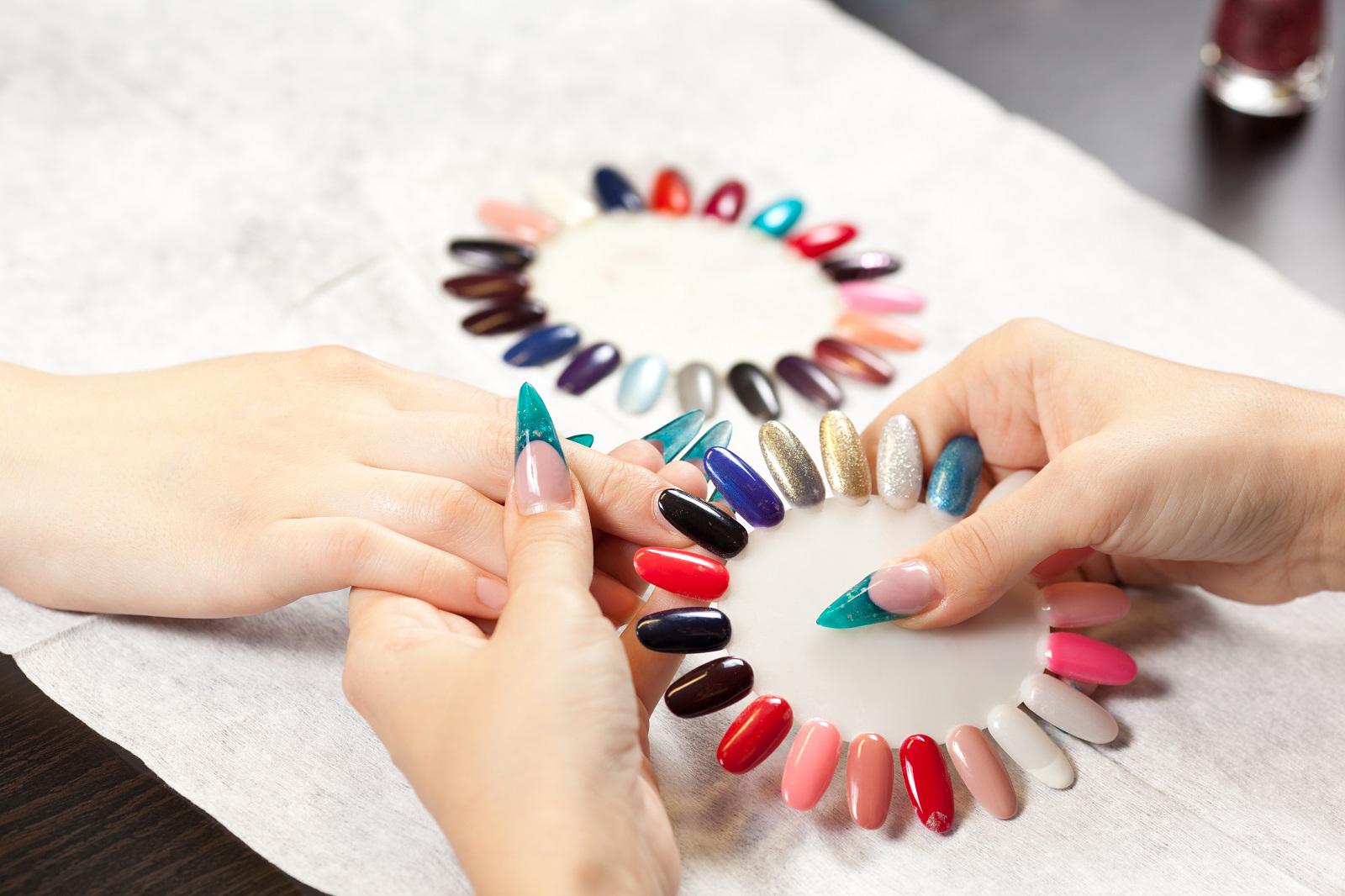 kleurenvoorbeeld acrylnagels